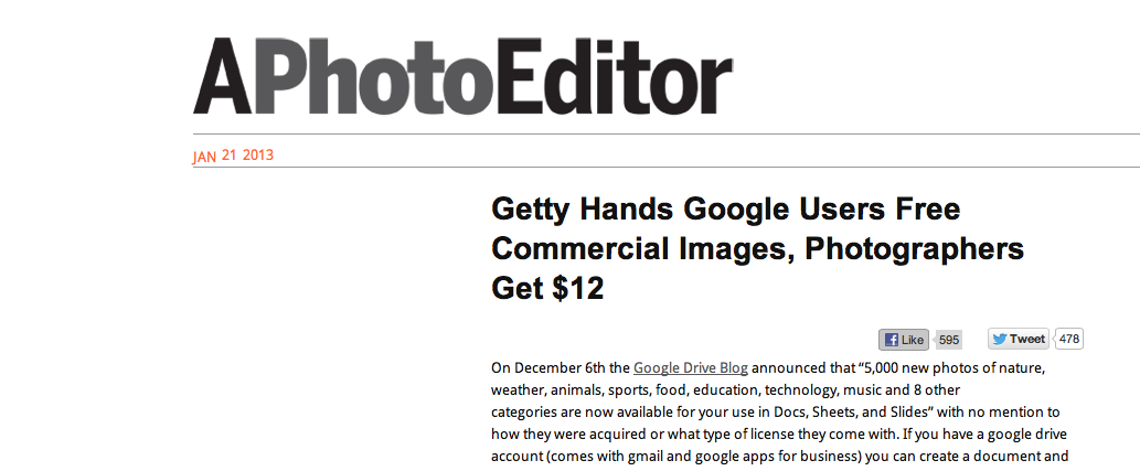 Getty Google Deal