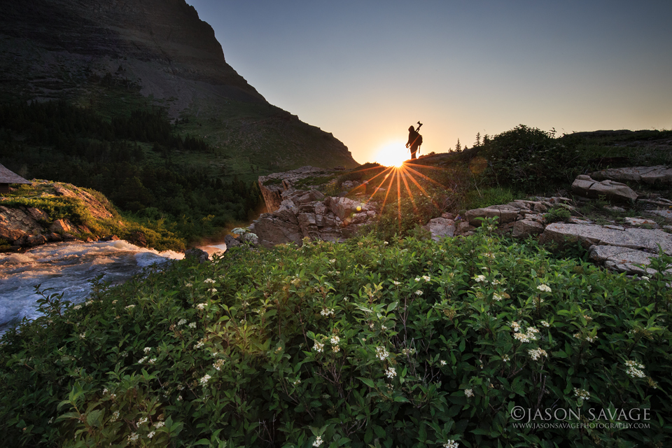 Photographer in Glacier National Park